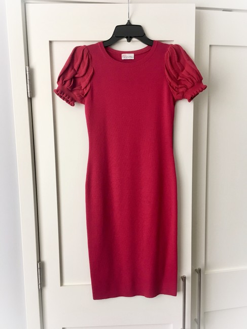 RED Valentino Formfitting Puff Sleeves Dress Image 6