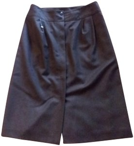 Brooks Brothers Slim Pencil Career Italian Skirt brown