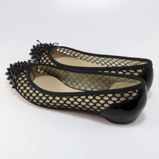 Christian Louboutin Mix Spikes Embellished S black Flats