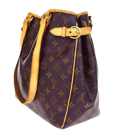louis vuitton brown leather batignolles shoulder bag tradesy. Black Bedroom Furniture Sets. Home Design Ideas