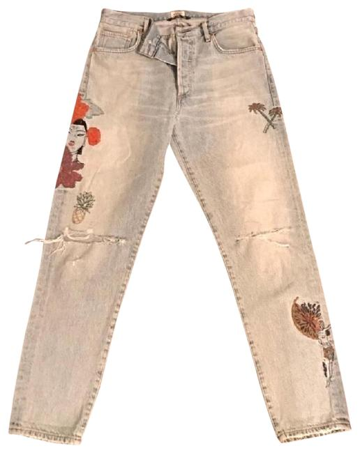 Citizens of Humanity Embroidered Chenille High Rise Skinny Jeans-Distressed