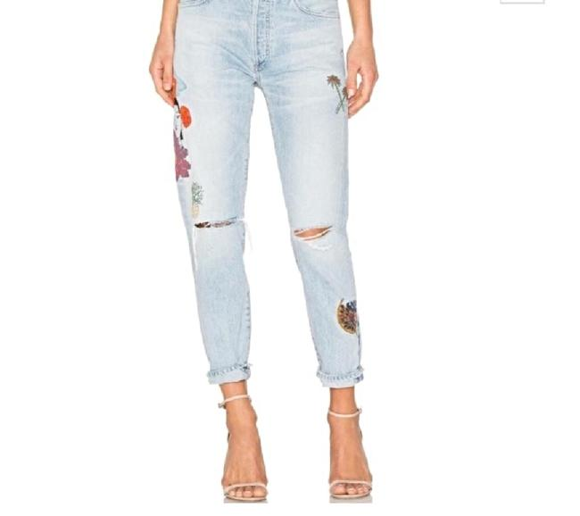 Citizens of Humanity Distressed Embroidered Chenille High Rise Skinny Jeans-Distressed