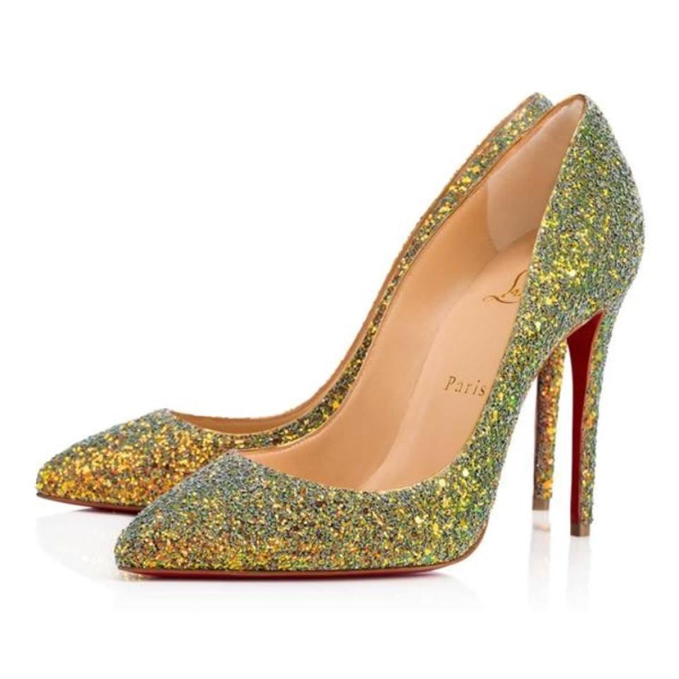 half off 58a2f a9ab9 Christian Louboutin Gold Pigalle Follies Glitter Dragonfly Pollen Stiletto  Pumps Size EU 36 (Approx. US 6) Regular (M, B) 6% off retail