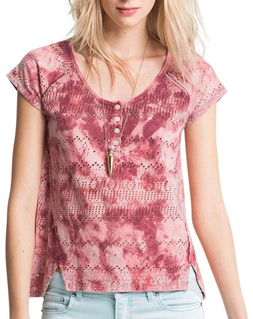 Preload https://item1.tradesy.com/images/free-people-pink-tie-dye-blouse-size-4-s-22542800-0-1.jpg?width=400&height=650
