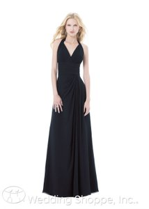 Bill Levkoff Navy Chiffon 486 Formal Bridesmaid/Mob Dress Size 6 (S)