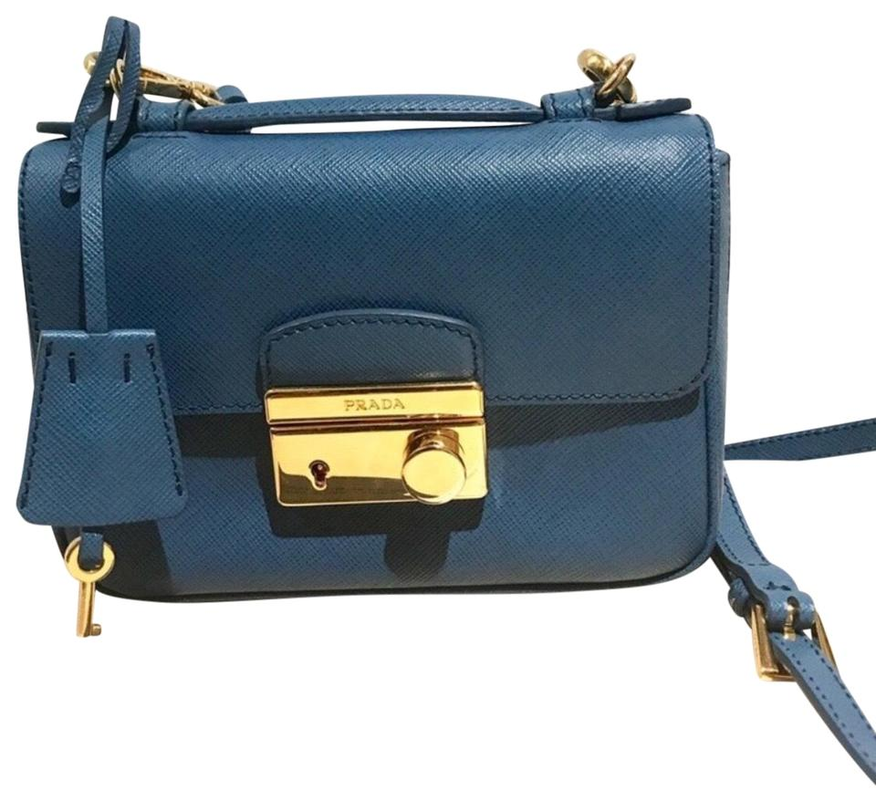 fd679847530f Prada Mini Sound Blue Cross Body Bag - Tradesy