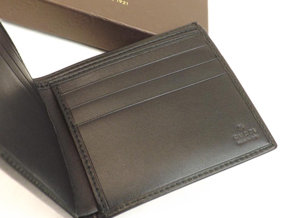 4fcd81b764a Gucci Beige   Black Diamante Canvas Bifold Leather Wallet  225826 Men s  Jewelry Accessory Image. 1234567891011