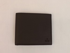 Gucci Brown Grand Prix Dark Bifold Textured Leather Wallet Men's Jewelry/Accessory