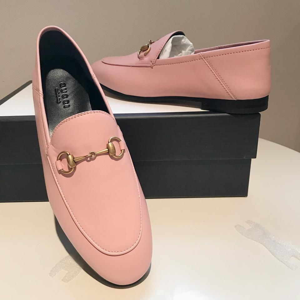 a2d21b8119f Gucci Brixton Mule Loafer Princetown Horseblt Light pink Flats Image 11.  123456789101112