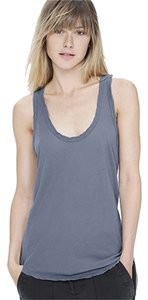 James Perse Chic Sheer Classic Top quarry blue