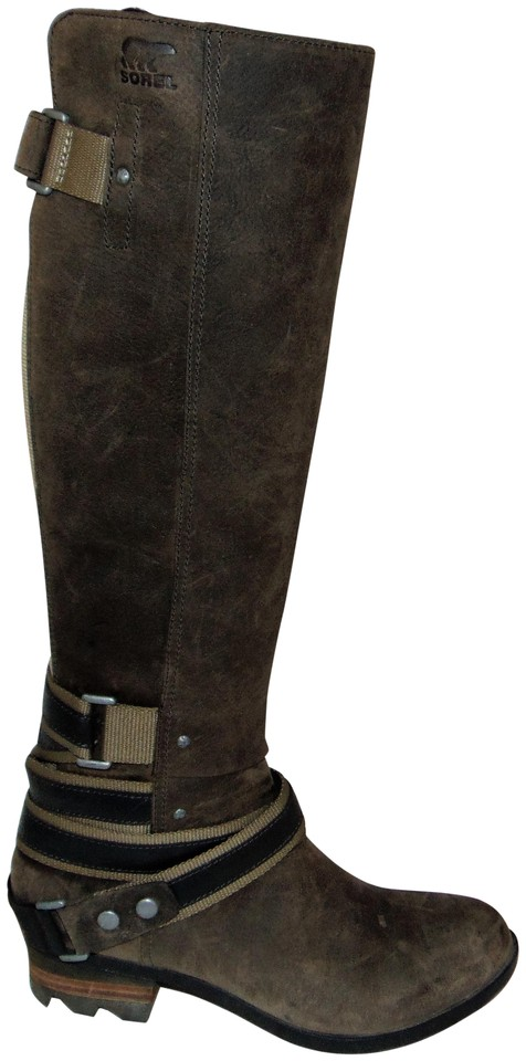 Sorel Tall Waterproof Quarry Leather Lolla Boots Booties Size US 6.5 ... bd3e19c0d8599