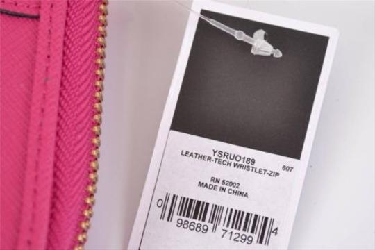 Juicy Couture ,Juicy,Couture,Pink,Saffiano,Leather,Zip,Around,Tech,Wristlet,Wallet