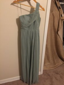 J.Crew Dusty Shale Green Chiffon Kylie 21619592 Formal Bridesmaid/Mob Dress Size 6 (S)