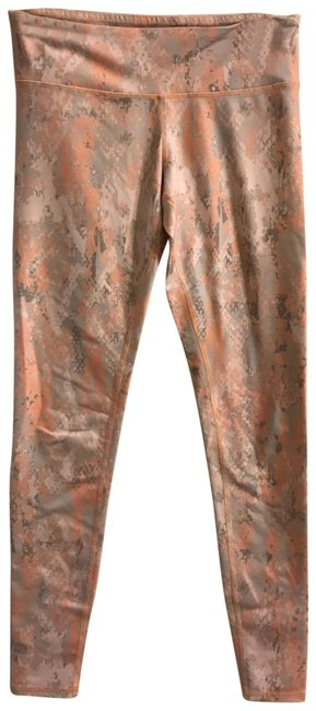 Item - Light Orange and Silver/White Activewear Bottoms Size 4 (S, 27)