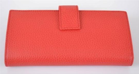 Gucci ,Gucci,231835,Orange,Textured,Leather,Continental,Clutch,Wallet