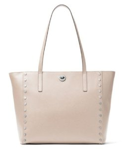 Michael Kors Studded Leather Tote in Cement