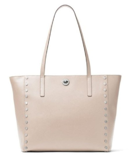 Preload https://item2.tradesy.com/images/michael-kors-rivington-studed-large-saffiano-silver-cement-leather-tote-22543936-0-0.jpg?width=440&height=440
