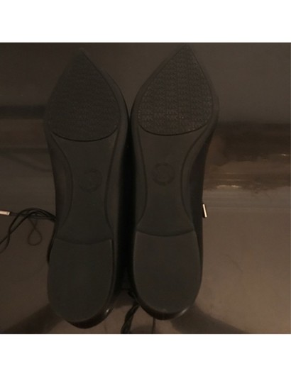Michael Kors Pointed Lace Up Black Flats