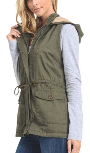 Item - Olive Green Cotton Twill Vest Size 8 (M)