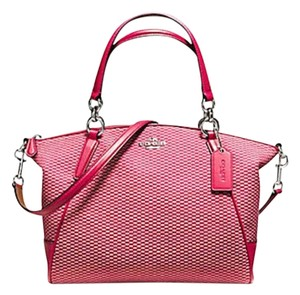 Coach Kelsey 57244 Shoulder Satchel in Bright Pink kahaki