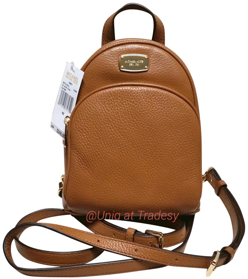 Michael Kors Mk Pebbled Abbey Carry Gym Purse Sale Acorn Brown Satchel Small Authentic Real Genuine Cross Body Backpack
