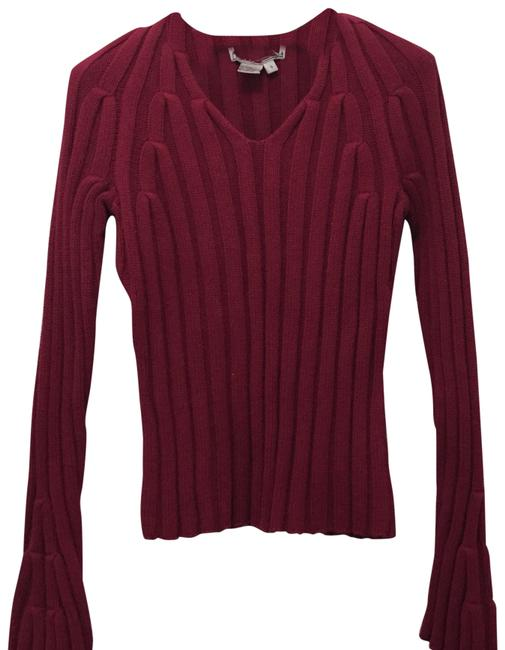 Preload https://img-static.tradesy.com/item/22544553/cable-knit-cotton-burgundy-sweater-0-4-650-650.jpg