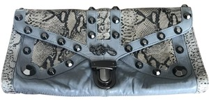 Betsey Johnson Studded Night Out Blue Gray Clutch