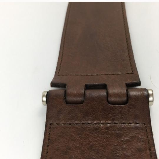 Theory Theory Brown Leather Belt Image 4