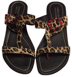 Donald J. Pliner Animal Brown Sandals