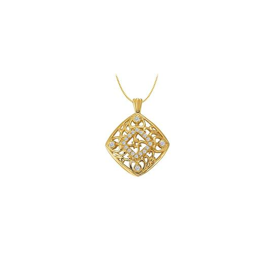 Preload https://img-static.tradesy.com/item/22545517/white-yellow-cubic-zirconia-square-shaped-pendant-in-gold-vermei-silver-025-ct-tgw-necklace-0-0-540-540.jpg