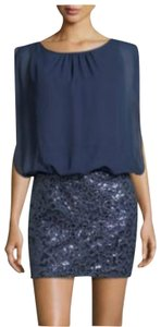 Aidan Mattox Night Out Holiday Sequin Mini Skirt Party Dress