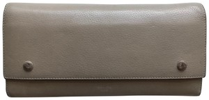 Céline Céline 100% Calfskin Wallet in Beige with Red Lining
