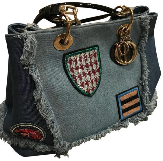 Preload https://img-static.tradesy.com/item/22546022/dior-christian-patchwork-d-blue-denim-tote-0-1-540-540.jpg