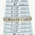 Wilson Brothers NEW-Diamond-Link-Bracelet-7-034-14k-Yellow-Gold-Matte-Finish-Rou Image 6