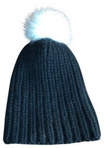 Eugenia Kim *NEW* Chunky Knit Warm Wool Winter Arctic Fox Fur Beanie Hat