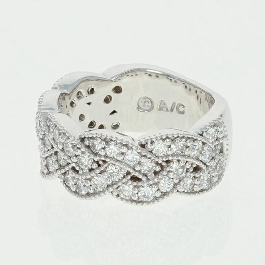 Wilson Brothers NEW Diamond Band Ring - 14k White Gold Woven Round Cut 1.36ctw Image 1