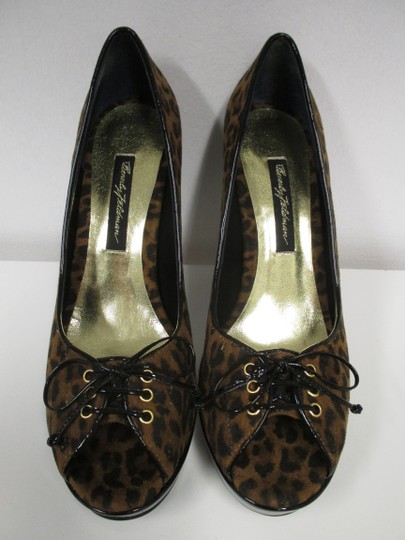 Beverly Feldman Animal Print New In Box Black and brown Pumps Image 1