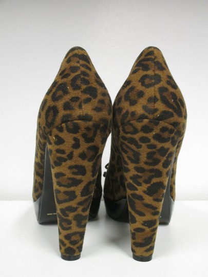 Beverly Feldman Animal Print New In Box Black and brown Pumps Image 5