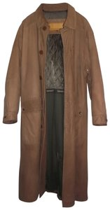 Timberland Men's Leather Full Length Water-resistant Pea Coat