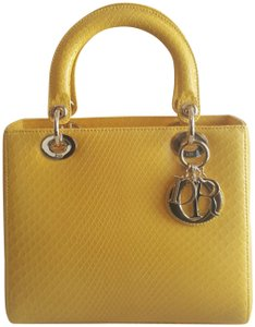 Dior Tote in Yellow