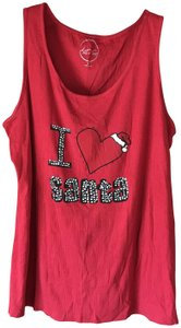 INC International Concepts Christmas Plus-size Embellished Top Red