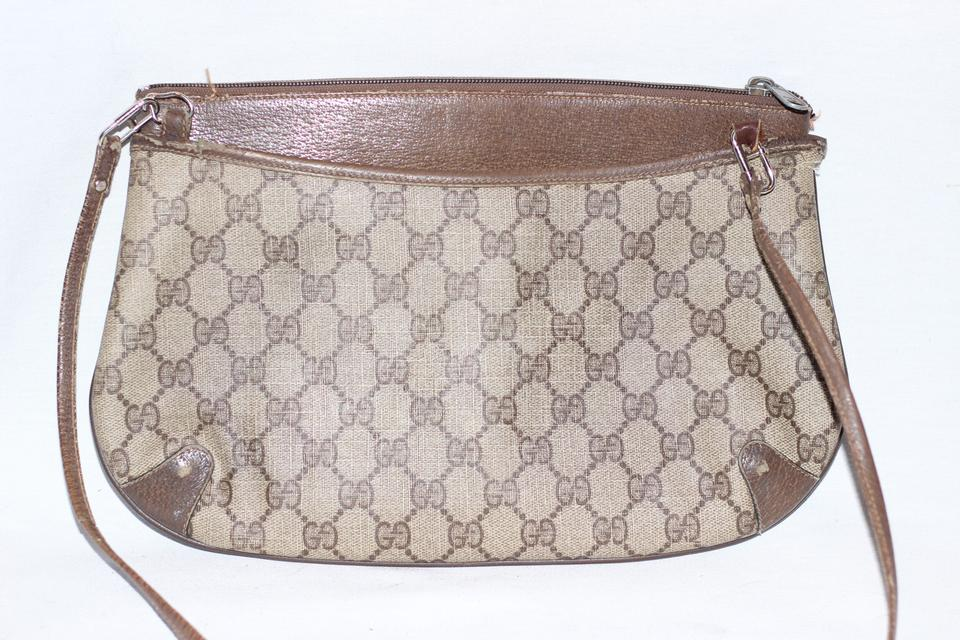 13766605a98d5e Gucci Clutch Iconic Gg Logo Crossbody / Brown Leather Shoulder Bag - Tradesy