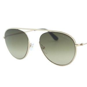 9a08a23e1a918 Tom Ford Gold New Keith-02 Tf-599 28k Round Semi-rimless Sunglasses ...