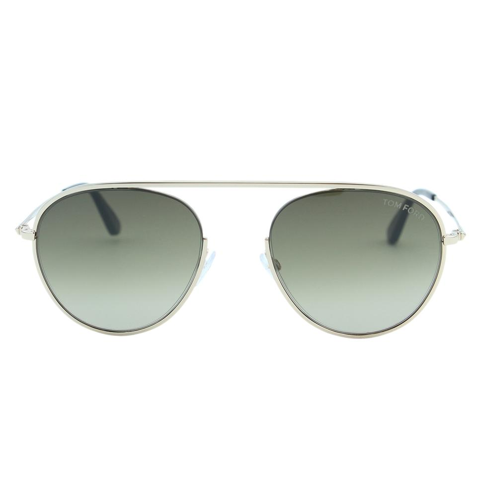 80e75d76b4 Tom Ford Gold New Keith-02 Tf-599 28k Round Semi-rimless Sunglasses ...