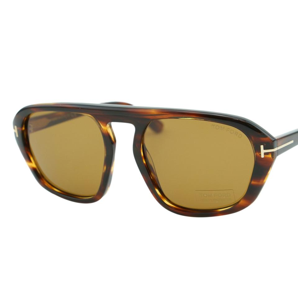 55f878c6d Tom Ford Dark Havana New Men David-02 Tf-634 Rectangular Sunglasses ...