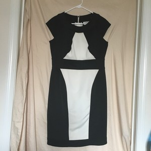 Julian Taylor short dress black & white on Tradesy