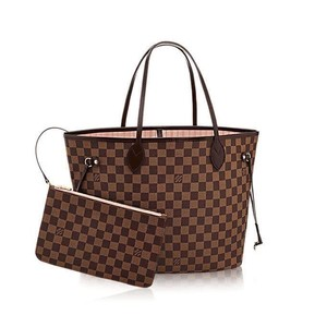 Louis Vuitton Monogram Damier Canvas Leather Luxury European Tote in brown