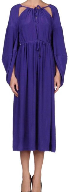 Item - Purple Silk Long Night Out Dress Size 4 (S)