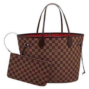 Louis Vuitton Damier Canvas Leather Luxury European Tote in brown