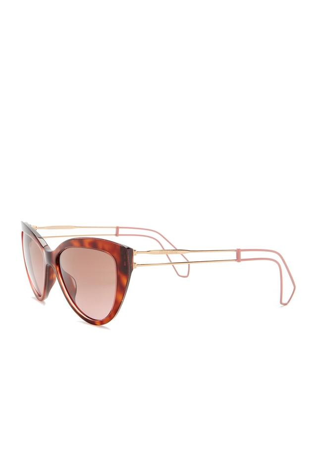 87be0a12b92 Miu Miu Havana Pink Women s Cat Eye Acetate Frame Sunglasses - Tradesy